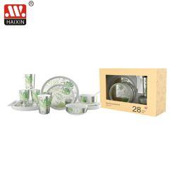 Kunststoff Geschirr Set für das Abendessen mit Teller Schüssel und Tasse