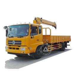 Dongfeng 13,5m de altura de elevación de rango de trabajo de 11,5m 8 tonelada (8t) 4 brazos de grúa de pluma telescópica de 4X2 de 6 ruedas 8 tonelada IZD sobre camión grúa