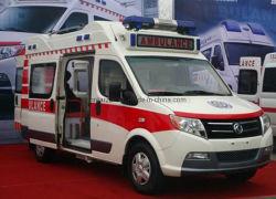 Dongfeng techo alto vehículo Ambulancia de rescate de emergencia médica.