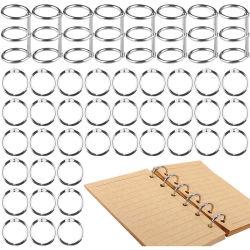 Chapado en metal Libro de hojas sueltas con bisagras Ring Binder anillos Enlace Calendario de escritorio de níquel Círculo 3 anillos para álbum clave de la tarjeta
