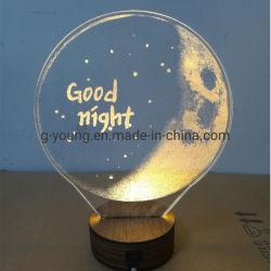Interruptor táctil inteligente en 3D LED Lámpara Luz de noche