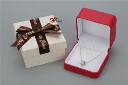 Colgante de cuero de PU de color rojo y pulsera Joyero/Embalaje/caja de almacenamiento con caja exterior