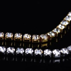 Ss 6 8개의 10의 12의 16의 18의 꿰매는 유리제 결정 Ab 모조 다이아몬드 사슬 공간 결정은 아플리케 조밀한 컵 사슬 공장을 구슬로 장식한다