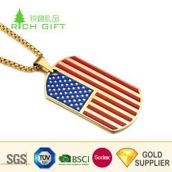 Высокое качество пользовательских металлические конструкции рельефным логотипом мягкой эмали золотой отделкой страны флага Xvideo Dog Tag