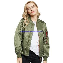 나일론 방풍 광택 울트라 라이트 실버 다운 충격 가득한 겨울 여성용 재킷