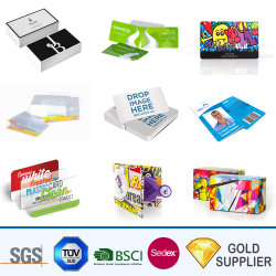 Relevos em branco personalizados de alta qualidade de impressão a cores completa do logotipo Cartão de plástico de PVC transparente para o presente de promoção do cartão de identificação de negócios