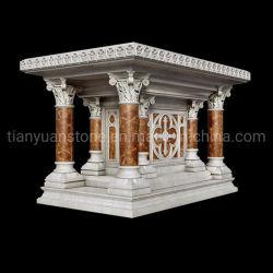 Hand Geschnitzt Naturmarmor Stein Kirche Pulpit Altar Tisch