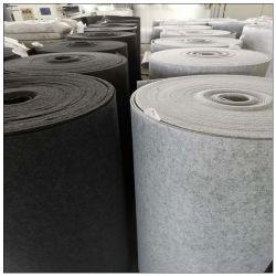 Kundenspezifisches aufbereitetes nichtgewebte Polyester-Nadel gelochtes industrielles Grau-Filz-Gewebe Rolls