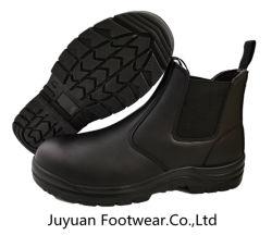 La norma Ce Sb Botas de seguridad, botas de Chelsea, el uso de la División suave cuero de vaca.