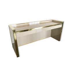 Home mobiliário personalizado Gold Estrutura Inoxidável Tabela Tabua Quarto Penteadeira