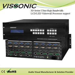 회의 시스템 X9 시리즈 극초단파 대역폭 LCD/LED Videowall 처리기 지원 다중 Windows