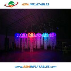 Parte de la decoración de bodas Globos de luz LED, LED de colores colgando de las medusas