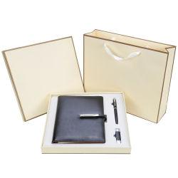 Рекламные компании в подарок пунктов кожаный чехол для ноутбука USB флэш-накопитель пера подарочный набор