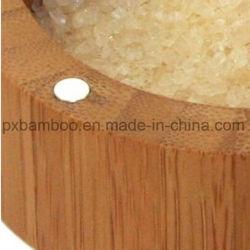 2018 gibt neuer Entwurf drei in einer Küche der 100% Bambus-Gewürz-Glas-und Bambus-Salz-Pfeffer-Punkt und Bambus-Gewürz-Kasten an