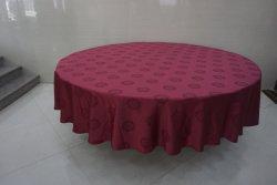 Motif de rouge de chiffon de tissu de couverture pour table à manger de fer métallique rond Ultra Size 180*180