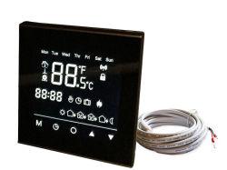 Superficie nera dello specchio del termostato dello schermo di tocco del comitato per il riscaldamento di pavimento elettrico