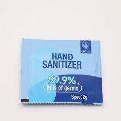 O OEM/MANUFACTURER 2g mão álcool gel Higienizador Wash-Free Sabonete Líquido descartáveis Sanitizer de mini-BAG