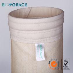 غبار من قماش Nomex / PPS / PTFE / Fibergalss Filter فلتر كيس التجميع 160 × 8000مم