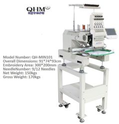 Qhmの高品質の単一ヘッド但馬のコンピュータの刺繍機械Pricewith 3Dの帽子の刺繍と同じように