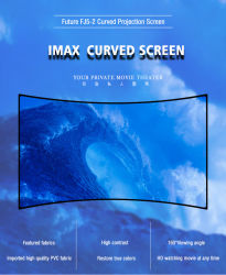 3D schermo di proiezione fisso curvo blocco per grafici di alluminio di grado HD dello schermo d'argento 180
