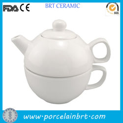 Plain bianco Tea per Un Ceramic Teapot con Cup