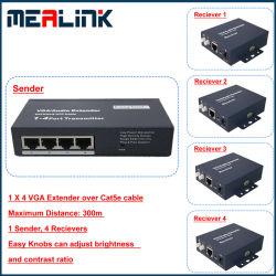 100m/200m/300m 1 à 4 seul Cat5e/6 UTP rallonge VGA