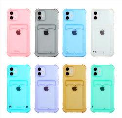 Custodia per cellulare in confezione da 9 colori, semi trasparente, telefono cellulare TPU morbido Custodia per custodia per iPhone 7/8/11/12/13/X/Xs/xr/PRO/PRO Max/Mini con porta-schede, trasparente