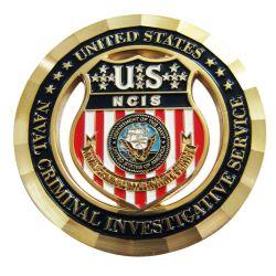 Estados Unidos Nosotros Ncis esmalte de Investigación Criminal Naval de actos conmemorativos de la Moneda de regalo con borde de corte de diamantes de tejido plano (Moneda-064)