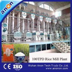 Anon molino de arroz paddy medio máquina de fábrica de procesamiento