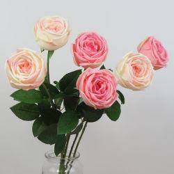 Günstige Unteren Preis Kunststoff Künstliche Seide Rose Blume