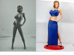 بلاستيكيّة مثيرة إمرأة تمثال/ينحت صدر ([وك2008123])