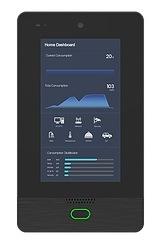 """Smart Home Automation планшетный компьютер на стене с помощью стеклянной панели стены сенсорный датчик дистанционного управления и сигнальная лампа 7"""""""