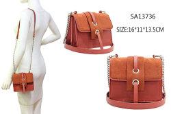 حقيبة صغيرة من الخلاء على شكل صغير مع شريط سلسلة حقيبة الكتف