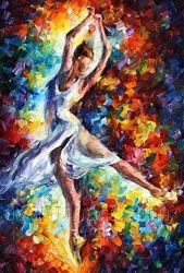 Pittura a olio Handmade incorniciata della ragazza di Dancing (KVP-006)