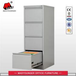 L'acier revêtement poudre métallique mobilier de bureau utilisez Fichier vertical 4 tiroirs Armoire de stockage
