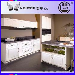 Estilo clássico mobiliário de cozinha em PVC branco (AF852)