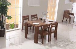 Приятный стиль горячая продажа деревянный обеденный набор в одну таблицу с четырьмя стульями (M-X1115)