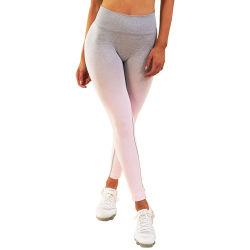Etiqueta Privada personalizada Warp Tricotar Alta respirável Estrangulados Perneiras perfeita mulher calças de ioga