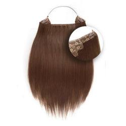 Remy de cabelo humano Flip na trama de cabelo halo de extensão de cabelo