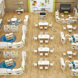 Infância Ranch designs da série de Infância Creche pré-escolar de plástico por grosso de mobiliário escolar para crianças