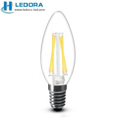 LED Candlelabra Bulbs 2With4W LED Filament Candles E12 E14 2300k 2500k 2700k CRI80-90 Dimmable