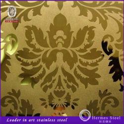 금색 색상 에칭 스테인리스 스틸 패널 제품