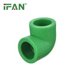 Ifan PPR/PEX/PP Pipes الأنابيب وتركيبات الأنابيب سعر الذهب PPR Elbow 90 درجة