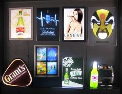 Светодиодный индикатор мигает лампа Slim реклама анимации в салоне