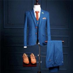 2017 новой модели индивидуальные двух кнопок синий Ман формальных износа для Сторон Tuxedos (покрыть+брюки+Майка) Ms01 тонкий установите Ман костюмы мужские свадебные костюмы деловые костюмы