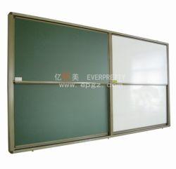 学校の家具教室の磁気執筆板の緑板