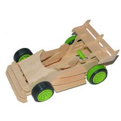 Coche de carreras juego de construcción de madera