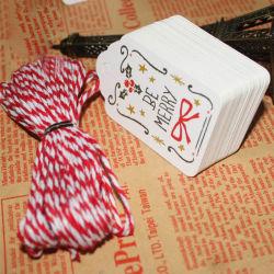 Caja de regalo de Navidad DIY pintado creativo de la tarjeta de marcador de la tarjeta de mensaje deseándole