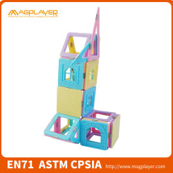 Magplayer stellten magische Schloss-Mädchen-Spielwaren magnetische Bausteine ein