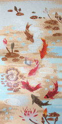 Fische Teich-im Glaskunst-Mosaik schnitten eigenhändig (CFD207)